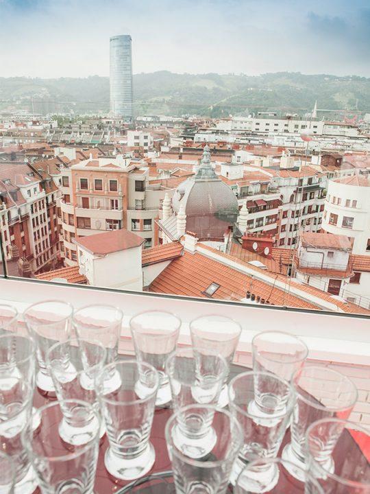 Vistas Bilbao Terraza Le Club Hotel Ercilla Bilbao